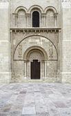 Romanesque church door — Stock Photo