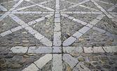 Gamla stenlagda golv — Stockfoto