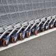 Metal shopping carts — Stock Photo