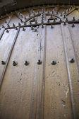 Medieval wooden door — Stock Photo
