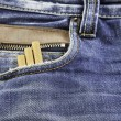 Jeans with snuff — Stock Photo