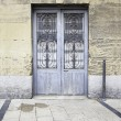 Blue Door at the monument — Stock Photo