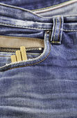 Jeans with snuff — Foto de Stock