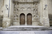 Facade of old medieval church — Stock Photo
