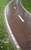 кривой дороге — Стоковое фото