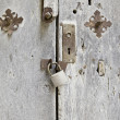 Wooden door with lock — Stock Photo #25381989