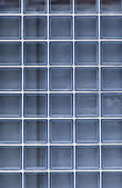 Blue glass wall — Stock Photo