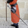 Medieval swordsman — Stock Photo