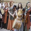 Medieval musicians Group — Stock Photo