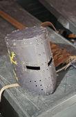 Medieval helmet protective — ストック写真