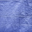 Blue fabric background texture — Stock Photo