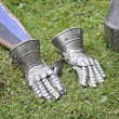 Stock Photo: Medieval armor, hands
