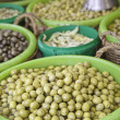 Olives at the market — Stock Photo