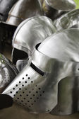 Medieval helmets — Stock Photo