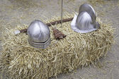 Battle Medieval Helmets — Stock Photo
