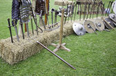Armes de guerre médiévales — Photo