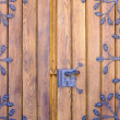 Wooden door with ironwork — Stock Photo #13284526