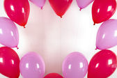 Frame from balloons — Stock Photo