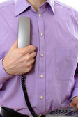 Telephone handset — Stock Photo