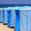 Stock Photo: Beach awning line
