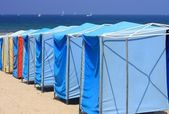 Beach awning line — Stockfoto