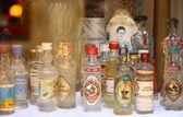 Little glass bottles — Stock Photo