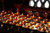 Candles on temple — Stock Photo
