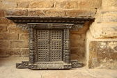 Carved window — Stock Photo