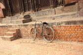 Bicycle on the street — Stock Photo