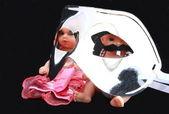 Bambole dietro la maschera — Foto Stock