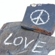 Love and peace — Stock Photo