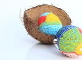 复活节彩蛋和可可 — 图库照片