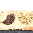 Integral bread and spices — Stock Photo