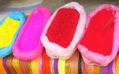 Tizas de colores en bolsas — Foto de Stock