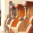 Pews in the chapel — Stock Photo