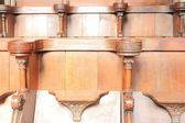 Wooden pews — Stock Photo
