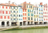 Colors facade in Bayonne-France — Stock Photo