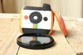 Camera cookies with filter — Stock Photo