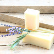 Stock Photo: Bar of soap with lavender