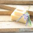 Stock Photo: Lavender and bar of soap