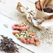 Stock Photo: Cloves and cardamom