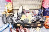 Sapatos retrô no mercado — Fotografia Stock