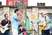 Tonky Blues Band at performance — Stock Photo