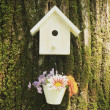 Stock Photo: White bird house