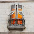 Stock Photo: Illuminated window in Bayona