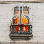 Illuminated window in Bayona — Stock Photo #31164929