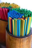 Colored incense sticks — Stock Photo