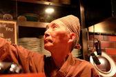 Cook in restaurant-Japan — Stock Photo