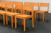Chairs in row — Stock Photo