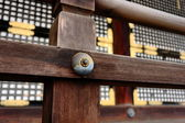 Wooden fence on temple — Stock Photo